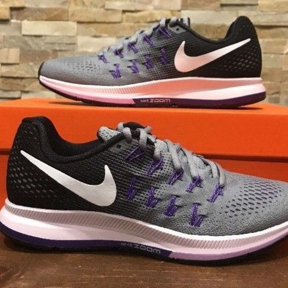 new product 9c750 1ebe6 Nike Air Zoom Pegasus 33 Grey Purple